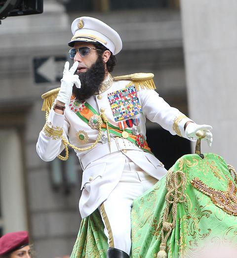Facial hair, Goggles, Moustache, Beard, Headgear, Tradition, Temple, Costume accessory, Sunglasses, Costume,