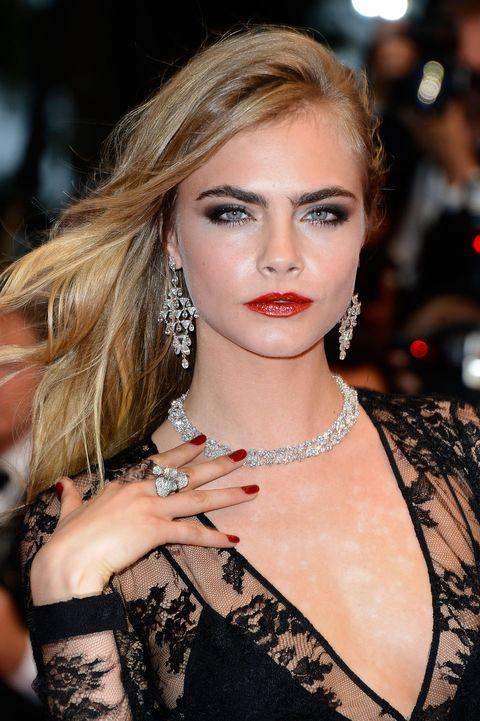 Lip, Hairstyle, Eyelash, Jewellery, Fashion accessory, Style, Wrist, Body jewelry, Eye shadow, Beauty,