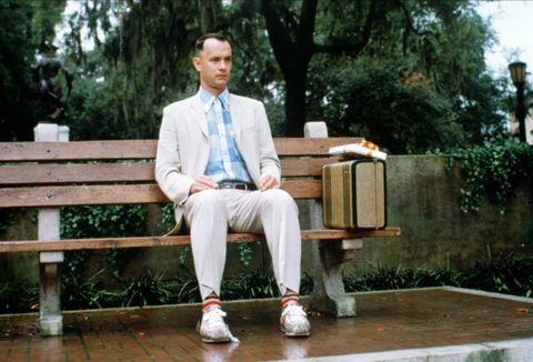 Dress shirt, Wood, Collar, Suit trousers, Sitting, Blazer, Street light, Ball, Tie, Football,