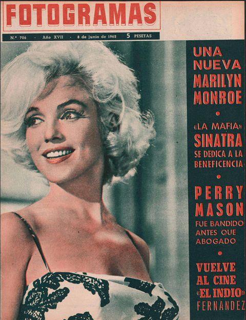 marilyn monroe en la portada de fotogramas