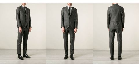 Clothing, Footwear, Coat, Product, Dress shirt, Collar, Sleeve, Trousers, Suit trousers, Standing,