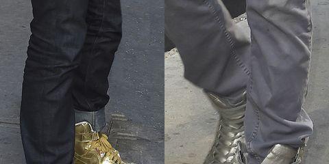 Footwear, Brown, Yellow, Trousers, White, Style, Tan, Fashion, Black, Grey,