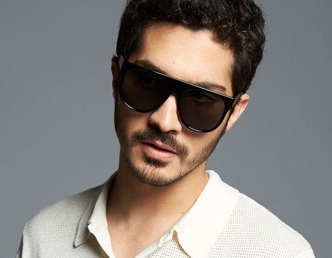 Eyewear, Hair, Sunglasses, Cool, Facial hair, Face, Glasses, Beard, Chin, Hairstyle,