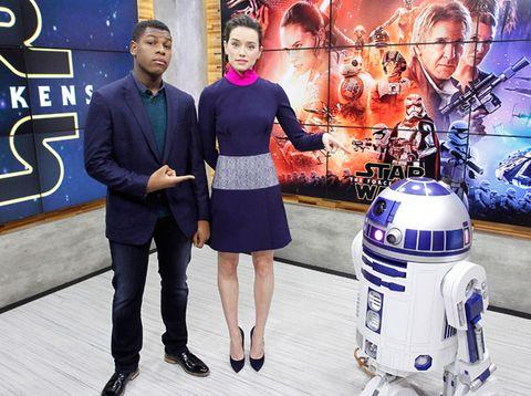 R2-d2, Machine, Dress, Fictional character, Robot, Television presenter,