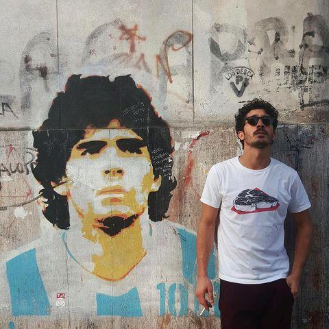 Cheek, Paint, Sunglasses, Street art, Temple, Cool, Art, Black hair, Mural, Street fashion,