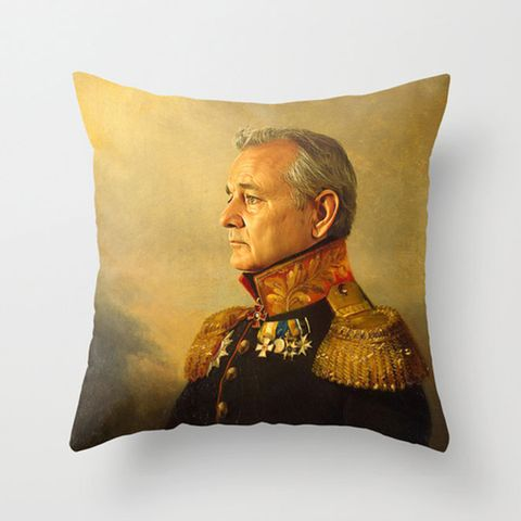 Nose, Human, Collar, Costume accessory, Cushion, Costume, Painting, Portrait, Throw pillow, Home accessories,
