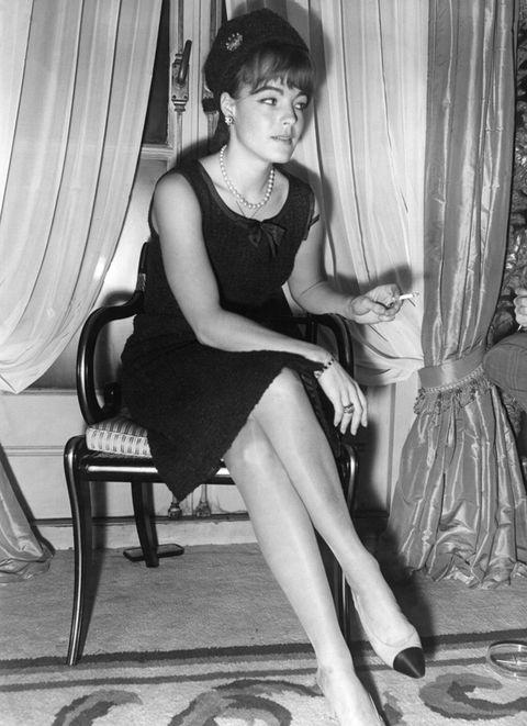 Leg, Dress, Human leg, Shoe, Sitting, Style, Curtain, Interior design, Window treatment, Black,