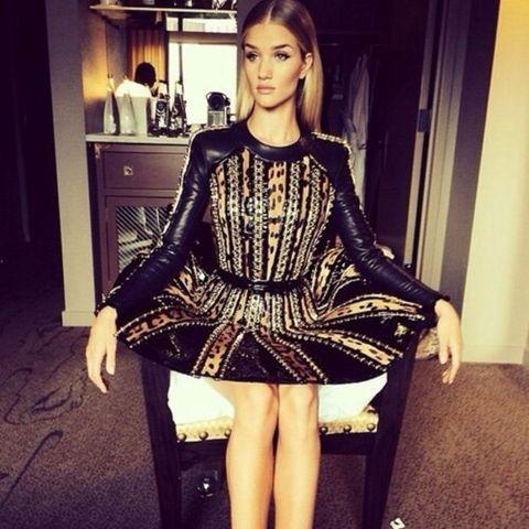 Dress, Beauty, Fashion, Thigh, One-piece garment, Fashion model, Shelf, Day dress, Cabinetry, Model,