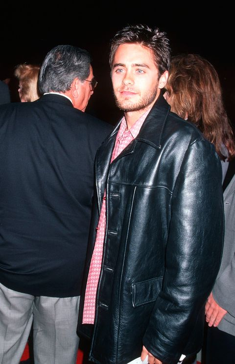 Jacket, Hairstyle, Shirt, Textile, Outerwear, Coat, Facial hair, Leather jacket, Fashion, Leather,