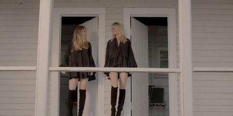 Human leg, Boot, Style, Knee, Thigh, Fixture, Knee-high boot, Street fashion, Blond, Long hair,