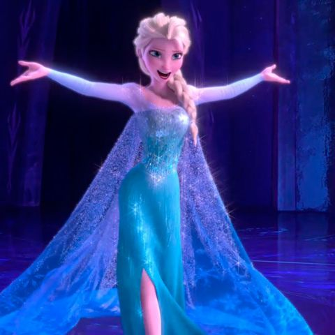 Hairstyle, Entertainment, Purple, Dress, Electric blue, Fashion, Gown, Performance, Violet, Fictional character,