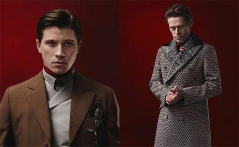 Clothing, Coat, Dress shirt, Hairstyle, Collar, Sleeve, Outerwear, Suit, Formal wear, Style,