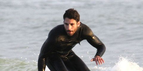 Surfing Equipment, Human, Fun, Surface water sports, Surfboard, Human body, Recreation, Standing, Boardsport, Water sport,