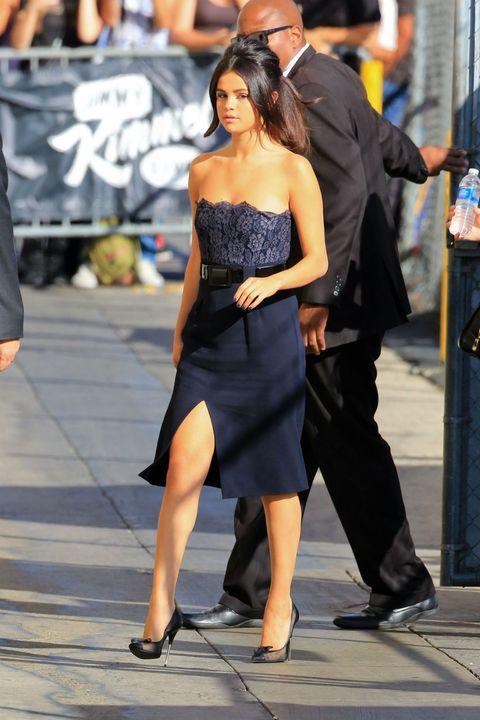 Outerwear, Human leg, Dress, Style, Hat, Street fashion, Fashion, Strapless dress, Waist, Calf,