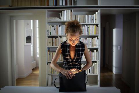 Shelf, Shoulder, Bookcase, Shelving, Bag, Publication, Book, Library, Design, Blond,