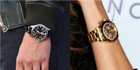Finger, Wrist, Hand, Watch, Fashion accessory, Fashion, Black, Analog watch, Pattern, Metal,