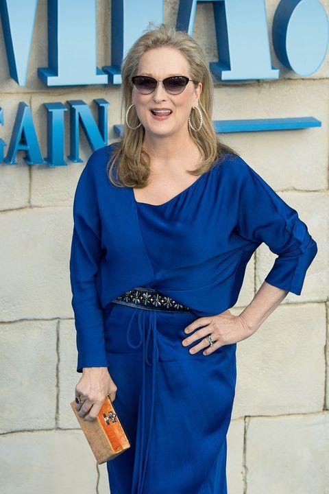 Cobalt blue, Blue, Clothing, Electric blue, Eyewear, Street fashion, Shoulder, Dress, Fashion, Sunglasses,