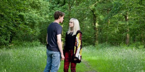 Trousers, Jeans, Mammal, People in nature, Interaction, Forest, Denim, Woodland, Love, Romance,