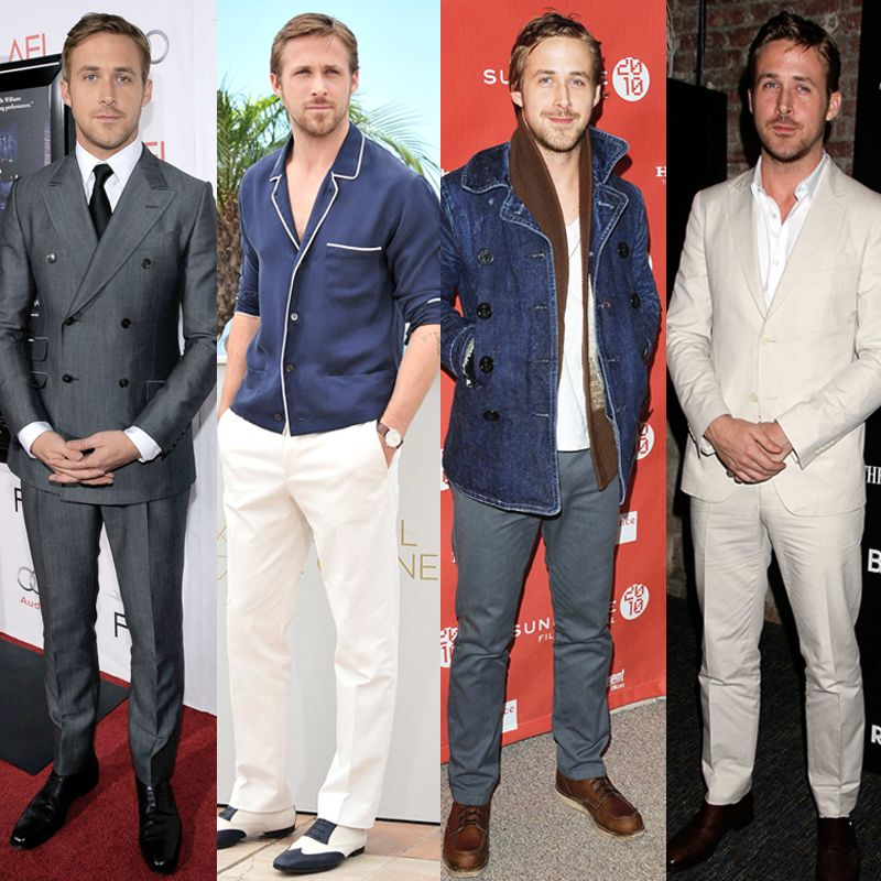 Ryan Gosling en 25 looks