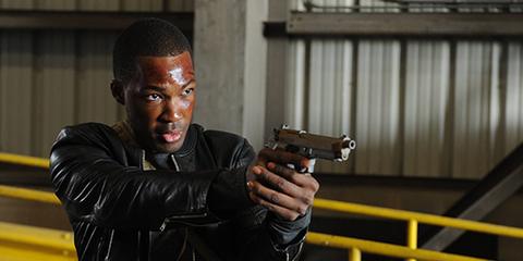 Jacket, Shooting, Gun accessory, Leather jacket, Revolver, Trigger, Leather, Air gun, Gun barrel, Ammunition,