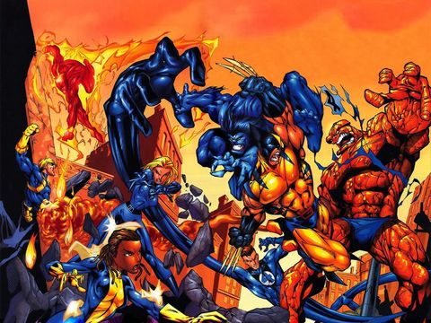 Fictional character, Animation, Cartoon, Hero, Superhero, Fiction, Electric blue, Animated cartoon, Illustration, Cg artwork,
