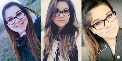 Eyewear, Hair, Glasses, Head, Nose, Vision care, Mouth, Lip, Cheek, Eye,