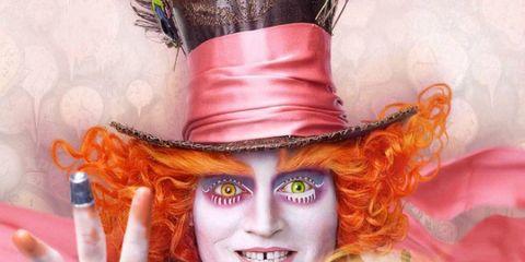 Costume, Costume accessory, Costume hat, Glove, Gesture, Nail, Bracelet, Makeover, Comedy, Costume design,