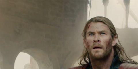 Mouth, Fictional character, Superhero, Hero, Avengers, Costume, Beard, Chest, Thor, Captain america,