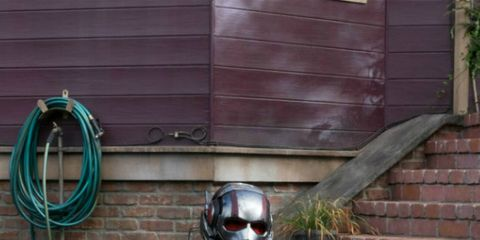 Helmet, Personal protective equipment, Armour, Stairs, Soil, Carmine, Fictional character, Costume, Boot, Knight,