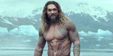 Aquaman, Human, Chest, Muscle, Barechested, Screenshot, Cg artwork, Mythology, Beard, Facial hair,