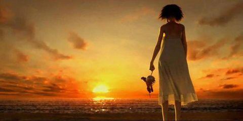 Nature, Fun, Atmosphere, People on beach, Dusk, Photograph, Standing, Horizon, Evening, Summer,