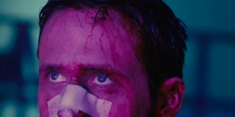 Face, Hair, Blue, Purple, Head, Red, Nose, Facial hair, Forehead, Pink,