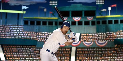 Arm, Sports uniform, Sport venue, Baseball equipment, Baseball field, Jersey, Baseball uniform, Cap, Sportswear, Bat-and-ball games,