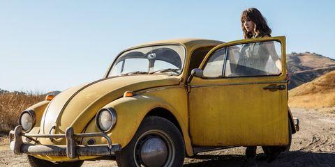 Land vehicle, Vehicle, Car, Yellow, Motor vehicle, Classic car, Coupé, Classic, Volkswagen beetle, Vintage car,