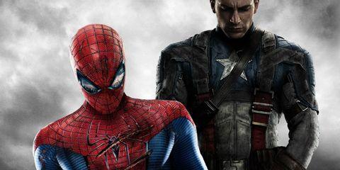Fictional character, Superhero, Carmine, Costume, Hero, Spider-man, Cobalt blue, Armour, Action film, Movie,