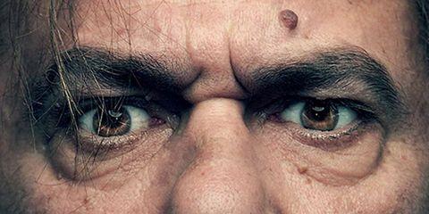Face, Hair, Nose, Facial hair, Facial expression, Moustache, Skin, Head, Beard, Forehead,