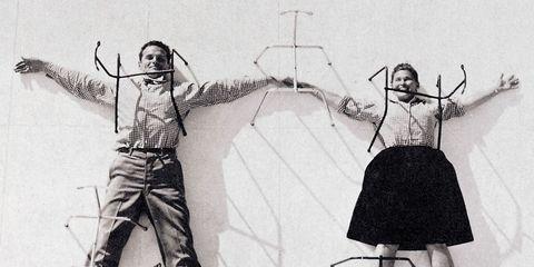 Standing, Line, Style, Art, Wrist, Artwork, Line art, Rope, Black-and-white, Monochrome,