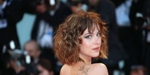 Hairstyle, Jewellery, Fashion, Strapless dress, Bangs, Lipstick, Makeover, Hair coloring, Body jewelry, Feathered hair,