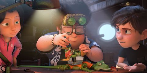 Fun, Animation, Cool, Goggles, Games, Animated cartoon, Fruit, Cucumber, gourd, and melon family, Produce, Fiction,