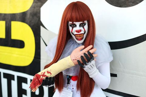 Lip, Hand, Fun, Cool, Costume, Mouth, Fictional character, Red hair, Photography, Finger,