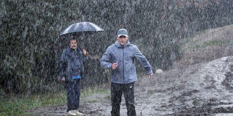 Umbrella, Winter, Jacket, Soil, Mud, Rain, Windbreaker, Rain suit, Precipitation, Raincoat,