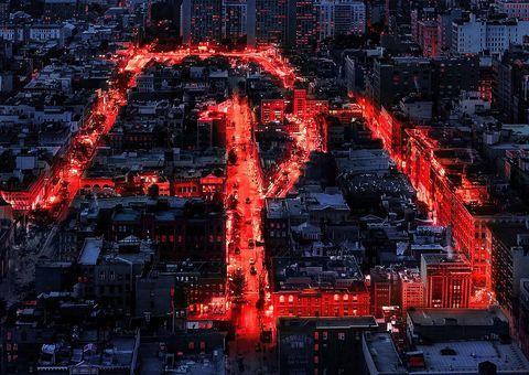 Red, Metropolis, Metropolitan area, Urban area, Urban design, Aerial photography, Cityscape,