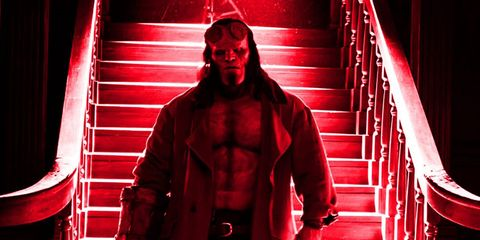 Red, Standing, Muscle, Fictional character, Photography, Costume, Performance,