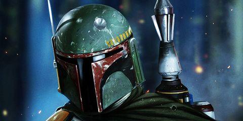 Boba fett, Helmet, Fictional character, Illustration, Space, Fiction,