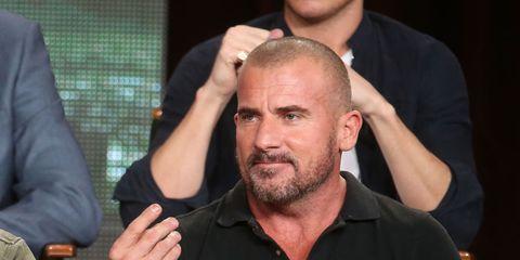 Finger, Hand, Wrist, Facial hair, Beard, Muscle, Gesture, Thumb, Buzz cut, Blazer,