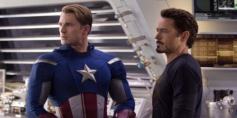 Fictional character, Superhero, Hero, Picture frame, Avengers, Costume, Shield, Countertop, Shelf, Captain america,