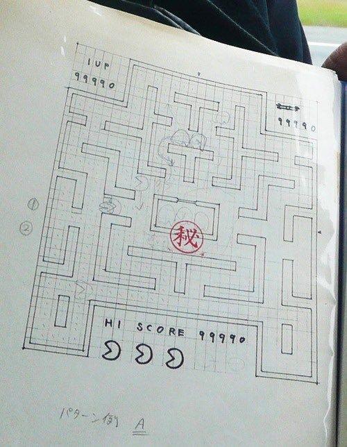 El creador de \'Pac-Man\' muestra los diseños originales del videojuego