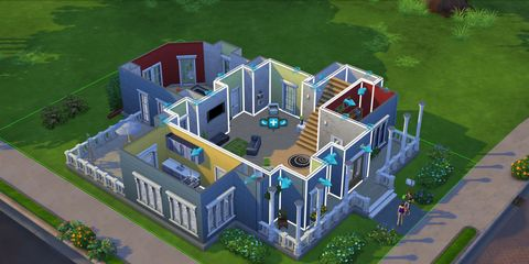 Urban design, Home, Animation, Yard, Mansion, Estate, Landscaping,
