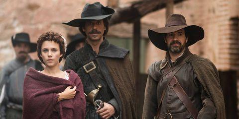Hat, Shirt, Facial hair, Sun hat, Headgear, Jacket, Fedora, Leather, Gunfighter, Belt,