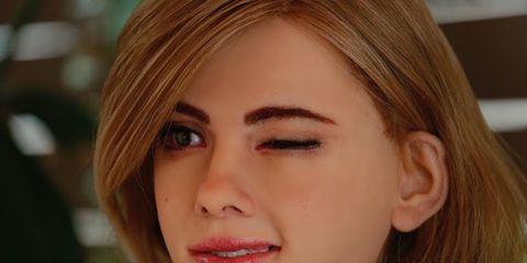 Hair, Head, Nose, Lip, Cheek, Brown, Hairstyle, Skin, Chin, Forehead,